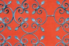 Het omheinen op rode achtergrond Royalty-vrije Stock Fotografie
