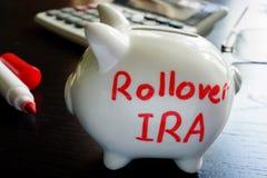 Het omvergooien IRA royalty-vrije stock afbeelding