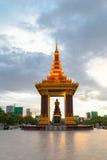 Het onafhankelijkheidsmonument is één van oriëntatiepunt in Phnom Penh, Kambodja Royalty-vrije Stock Fotografie