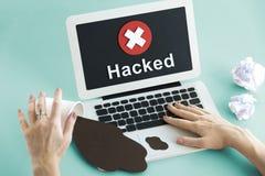 Het onbeveiligde Niet beschikbare Ontkende Concept van Spyware Neerstorting royalty-vrije stock fotografie