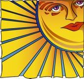 Het onder ogen zien van de Zon stock illustratie