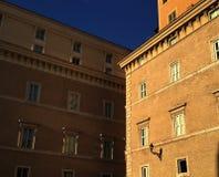 Het onder ogen zien van gebouwen Stock Afbeelding