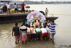 Het onderdompelen van Durga Stock Foto