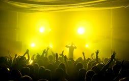 Het ondergrondse overleg van de clubmuziek Stock Afbeelding