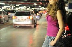 Het ondergrondse verhaal van de parkerenplaats Stock Afbeelding