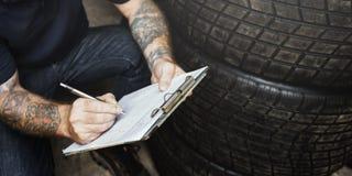 Het Onderhoud Mechanisch Fixing Spare Concept van de garagemotor royalty-vrije stock afbeelding