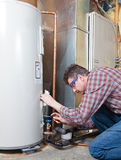 Het onderhoud van de waterverwarmer Royalty-vrije Stock Afbeelding