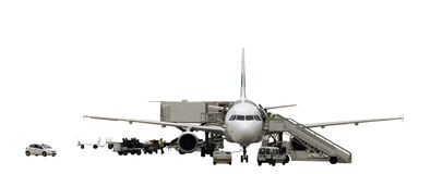 Het onderhoud van vliegtuigen Royalty-vrije Stock Foto