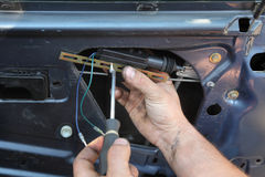 Het onderhouden van de auto stock foto