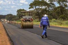 Het onderhoudswerk en bouw van het asfalt Royalty-vrije Stock Afbeelding