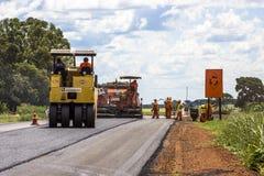 Het onderhoudswerk en bouw van het asfalt Royalty-vrije Stock Foto