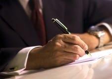 Het ondertekenen van document Royalty-vrije Stock Foto