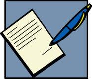 Het ondertekenen van een document stock illustratie