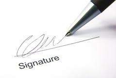 Het ondertekenen van het contract Stock Foto