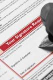 Het ondertekenen van Kredietovereenkomst Royalty-vrije Stock Fotografie