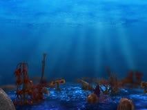 Het onderwater installatieleven vector illustratie