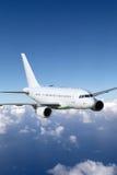 Het onderwerp van de vliegtuig tijdens de vlucht luchtvaart royalty-vrije stock foto's