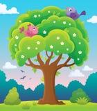 Het onderwerpbeeld 5 van de de lenteboom Stock Afbeeldingen