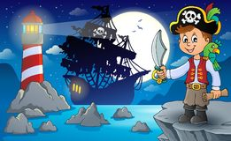 Het onderwerpbeeld 3 van de piraatjongen vector illustratie