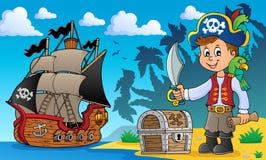 Het onderwerpbeeld 2 van de piraatjongen vector illustratie