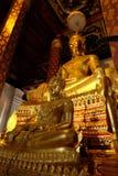 Het onderwerpen van Mara Buddha-beeld van Wat Nah Phramen Stock Afbeeldingen