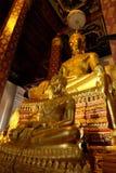 Het onderwerpen van Mara Buddha-beeld van Wat Nah Phramen Royalty-vrije Stock Afbeeldingen