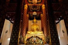 Het onderwerpen van Mara Buddha-beeld van Wat Nah Phramen (Horizon) Royalty-vrije Stock Afbeelding