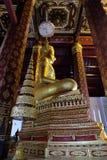 Het onderwerpen van Mara Buddha-beeld van Wat Nah Phramen (Zijde 1) Royalty-vrije Stock Foto's