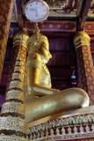 Het onderwerpen van Mara Buddha-beeld van Wat Nah Phramen (Zijde 2) Stock Afbeelding