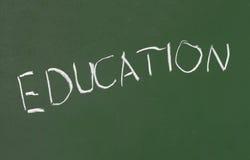 Het onderwijs van de het klaslokaalschool van het bord Stock Afbeelding