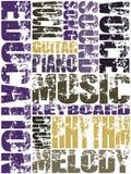 Het Onderwijs van de muziek Stock Foto's