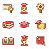 Het Onderwijs van de pictogrammenstijl Royalty-vrije Stock Foto's