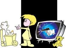 Het onderwijs van kinderen - media   royalty-vrije illustratie