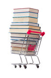 Het onderwijsconcept met boeken op wit Stock Fotografie