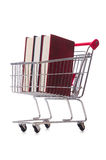 Het onderwijsconcept met boeken op wit Royalty-vrije Stock Foto's