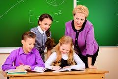 Het onderwijsproces stock afbeeldingen