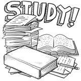 Het onderwijsschets van de studie Stock Foto's