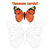 Het onderwijsspel verbindt punten om vlinder te trekken Stock Foto