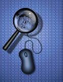 Het Onderzoek of de Identiteit van het Web Stock Foto