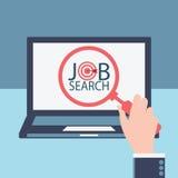Het onderzoek van de baan stock illustratie