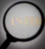 Het onderzoek van de informatie Stock Fotografie