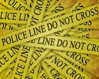 Het onderzoek van de politie Stock Afbeelding