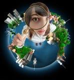 Het onderzoek van de wereld stock foto