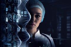 Het onderzoek van het biochemielaboratorium Royalty-vrije Stock Foto