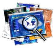 Het onderzoek van het de paginaontwerp van de technologiewebsite royalty-vrije illustratie