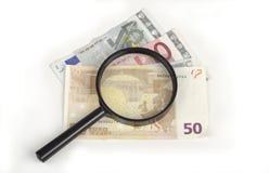 Het onderzoek van het geld Royalty-vrije Stock Foto