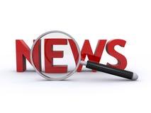 Het onderzoek van het nieuws royalty-vrije illustratie