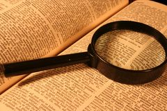 Het onderzoek van het woordenboek Royalty-vrije Stock Afbeeldingen
