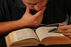 Het onderzoek van het woordenboek Stock Fotografie
