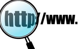 Het Onderzoek van Internet Stock Foto's